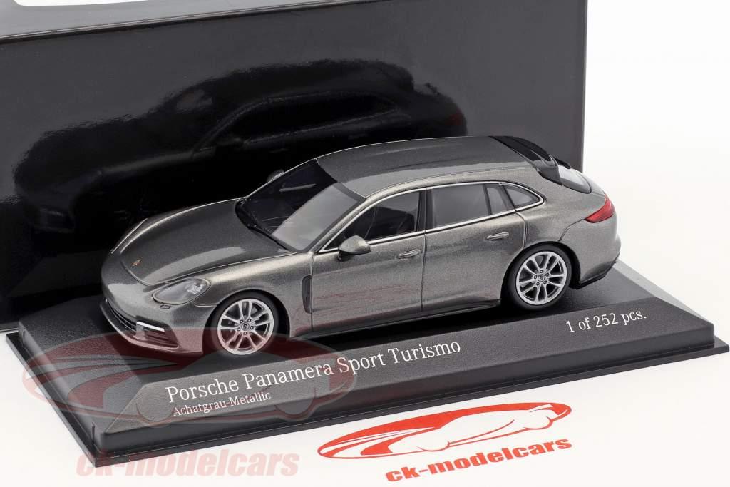 Porsche Panamera 4S Diesel Sport Turismo année de construction 2017 agate gris métallique 1:43 Minichamps