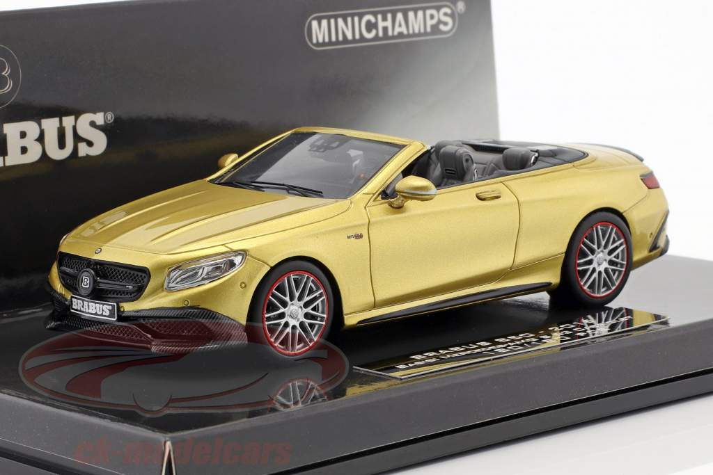 Brabus 850 based on Mercedes-Benz AMG S63 Cabriolet year 2016 gold 1:43 Minichamps