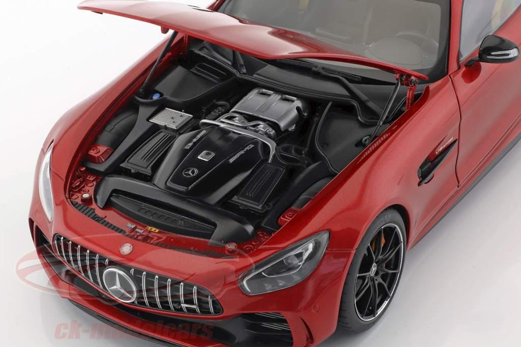 Mercedes-Benz AMG GT R año de construcción 2017 designo cardinal rojo metálico 1:18 AUTOart