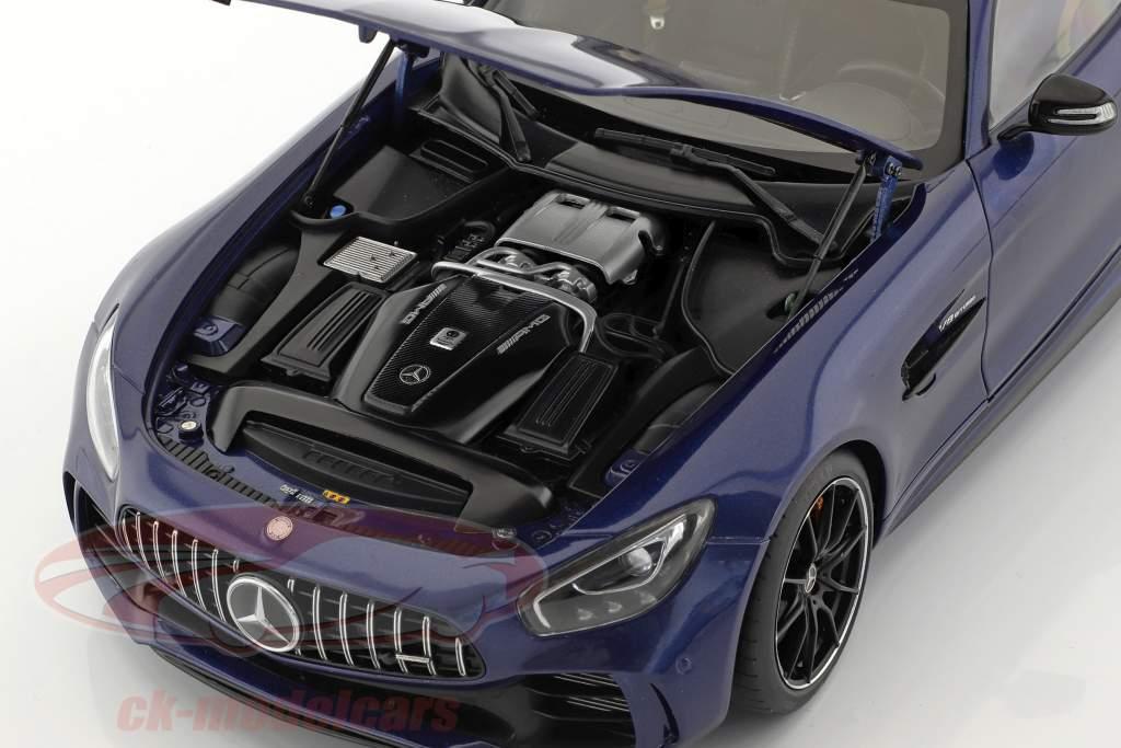 Mercedes-Benz AMG GT R anno di costruzione 2017 brillante blu metallico 1:18 AUTOart