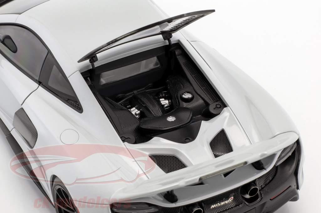 McLaren 675 LT ano de construção 2016 sílica branco 1:18 AUTOart