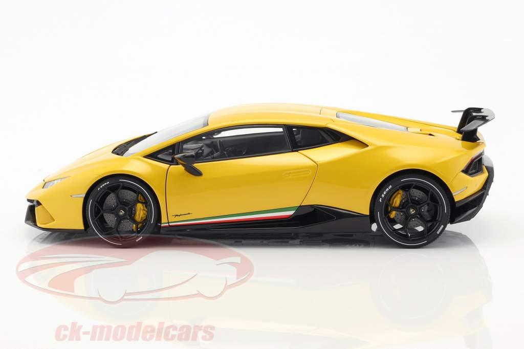 Lamborghini Huracan Performante Bouwjaar 2017 parel geel 1:18 AUTOart