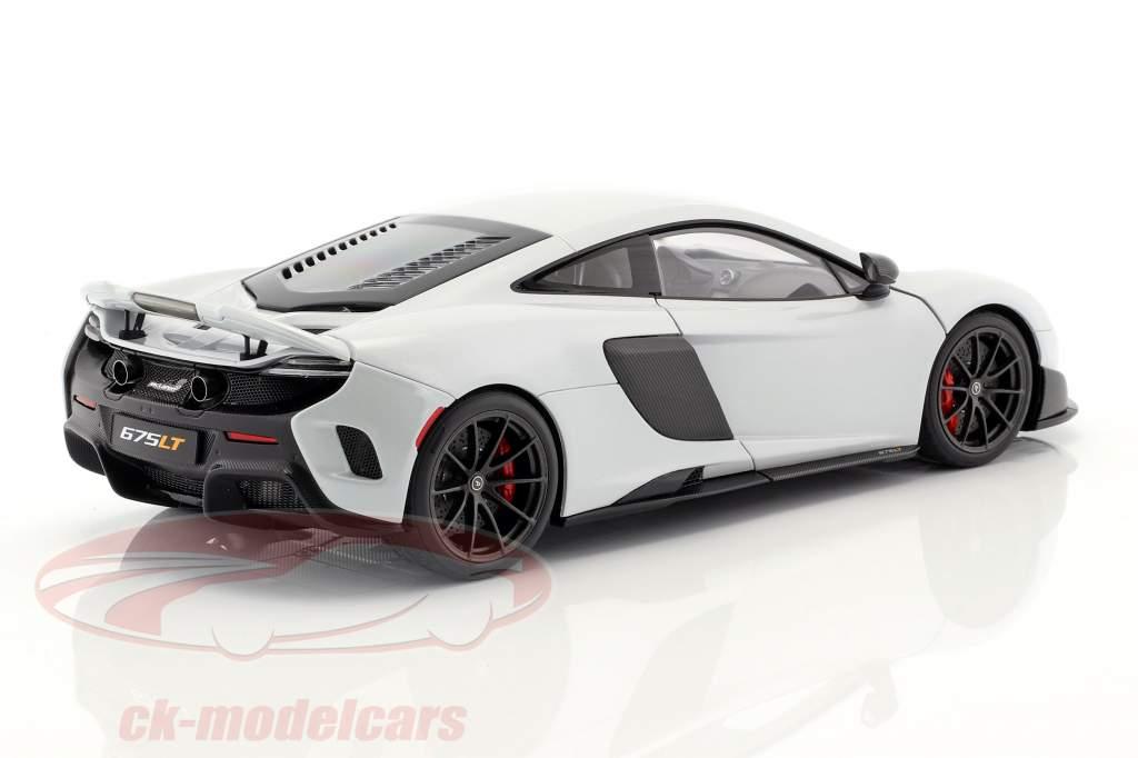 McLaren 675 LT Bouwjaar 2016 silica wit 1:18 AUTOart