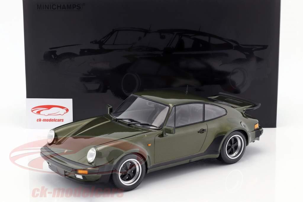 Porsche 911 (930) Turbo año de construcción 1977 oliva verde 1:12 Minichamps