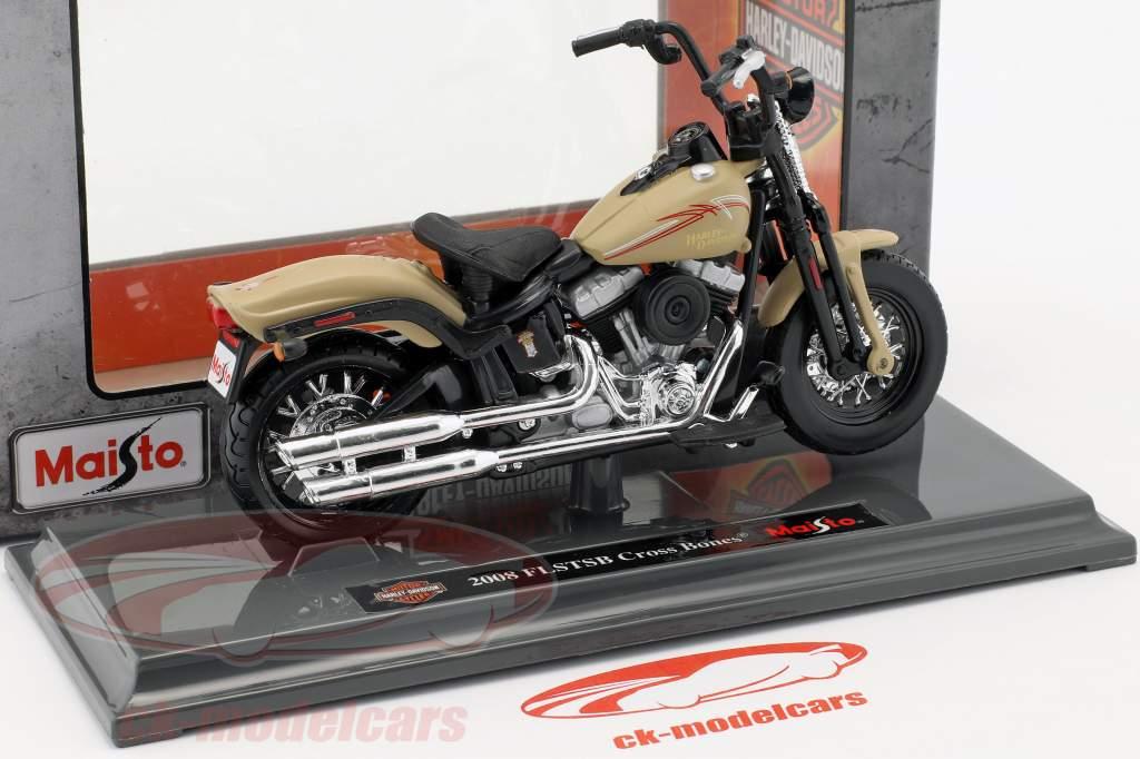 Harley-Davidson FLSTSB Cross Bones year 2008 beige 1:18 Maisto