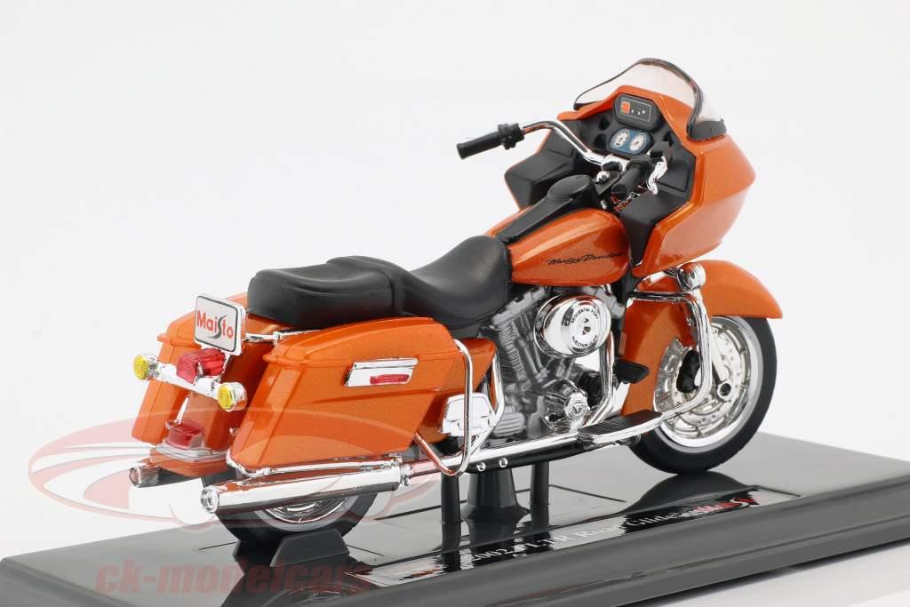 Harley-Davidson FLTR Road Glide Opførselsår 2002 appelsin 1:18 Maisto