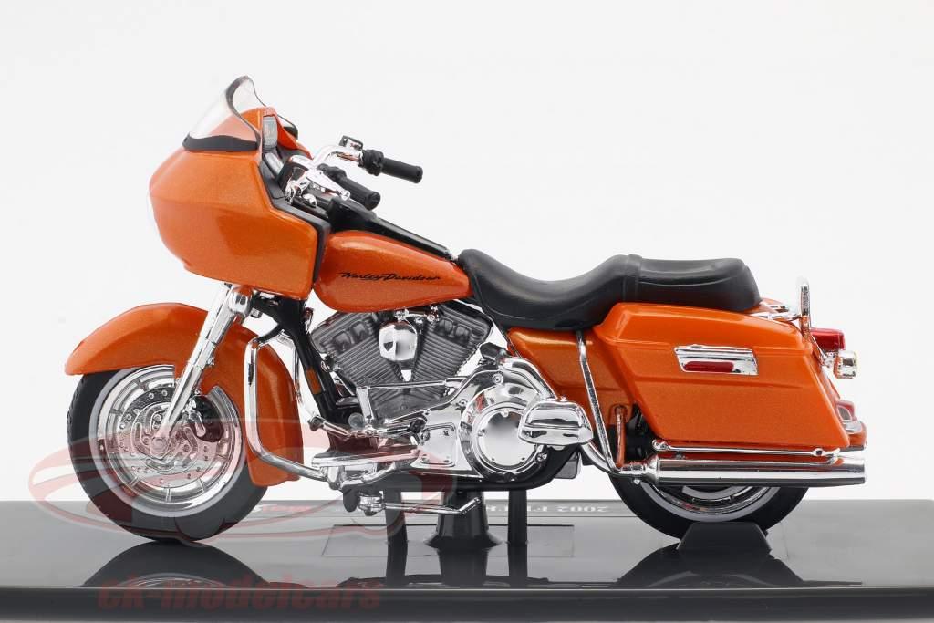 Harley-Davidson FLTR Road Glide anno di costruzione 2002 arancione 1:18 Maisto