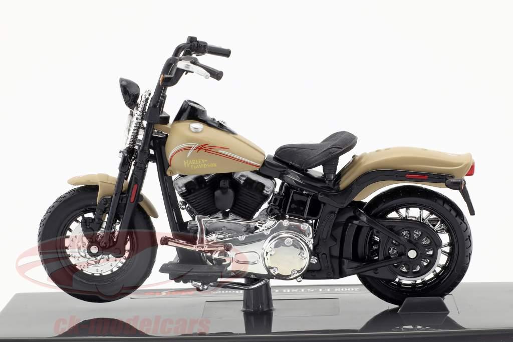 Harley-Davidson FLSTSB Cross Bones Baujahr 2008 beige 1:18 Maisto