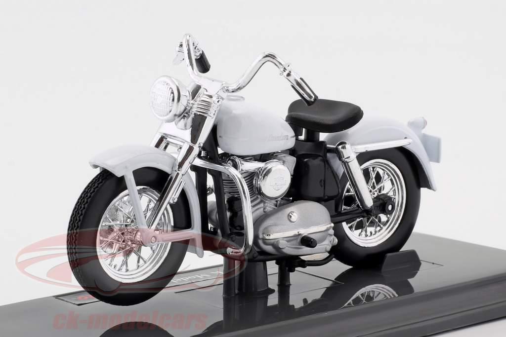 Harley-Davidson K Model année de construction 1952 blanc 1:18 Maisto