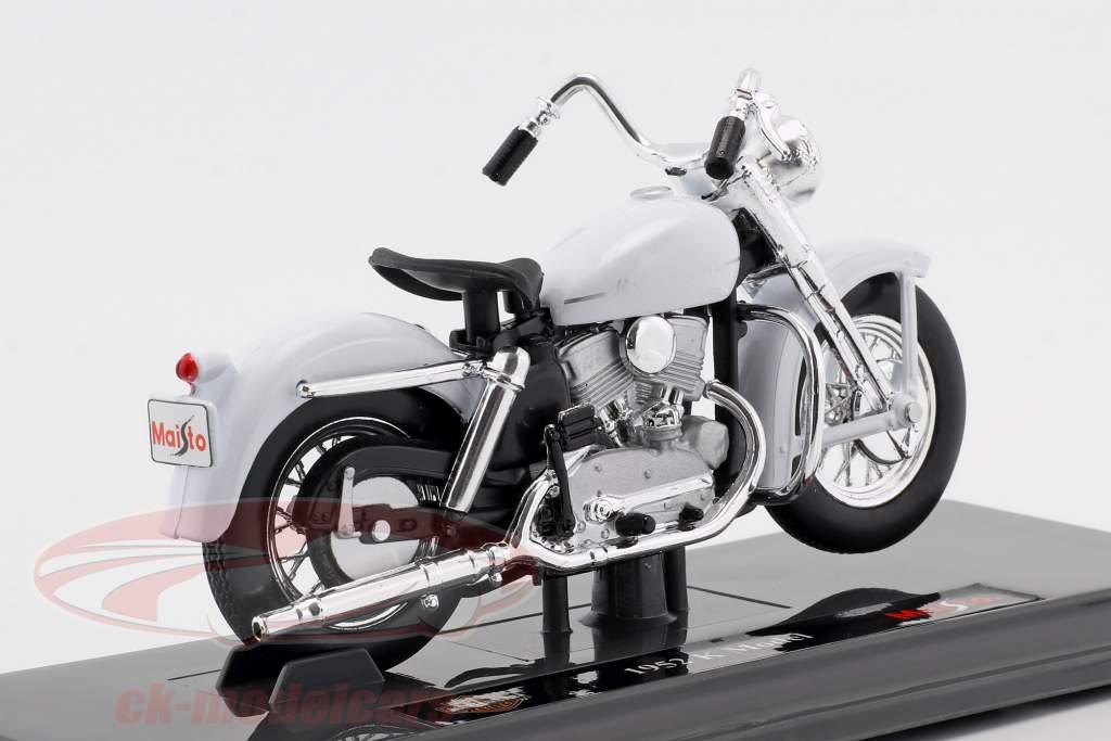 Harley-Davidson K Model Opførselsår 1952 hvid 1:18 Maisto