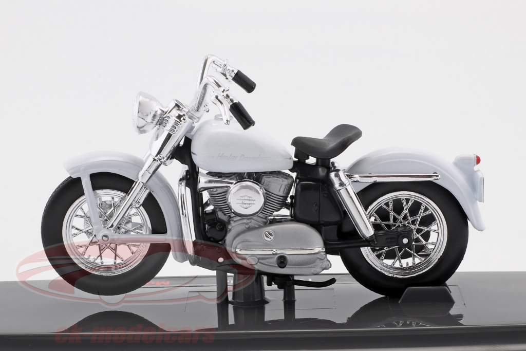 Harley-Davidson K Model año de construcción 1952 blanco 1:18 Maisto