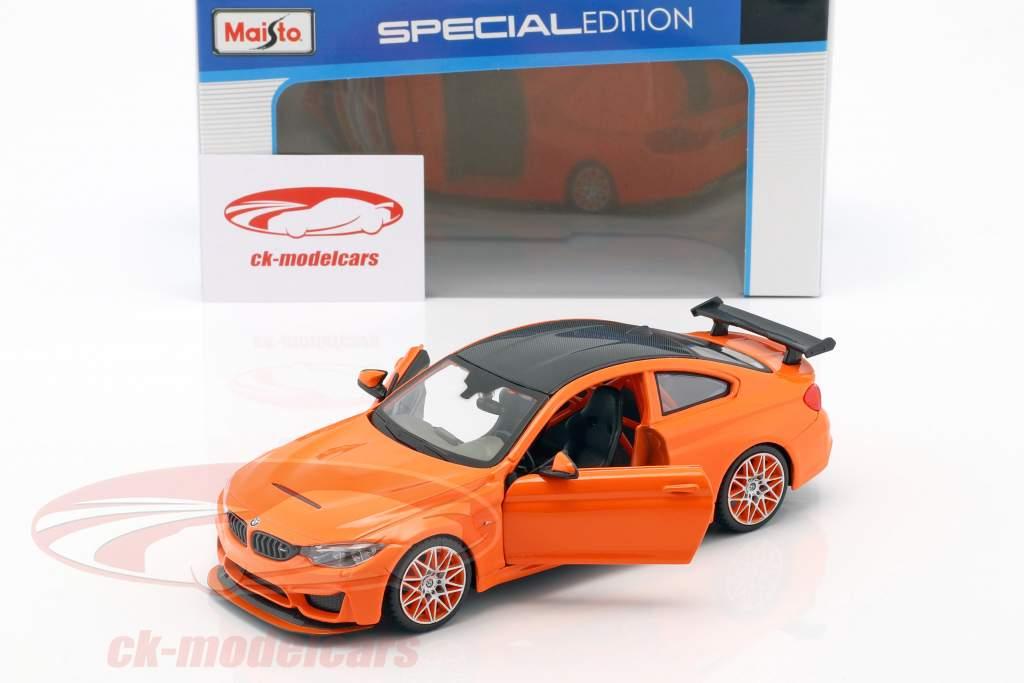 BMW M4 GTS laranja 1:24 Maisto