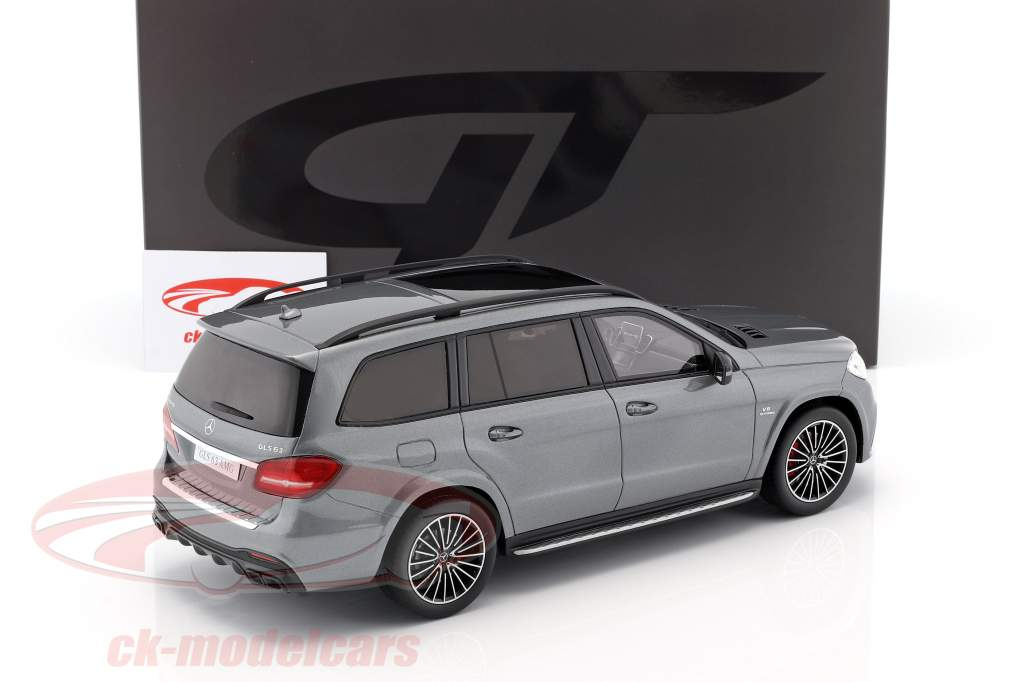 Mercedes-Benz AMG GLS 63 year 2016 selenite grey 1:18 GT-Spirit