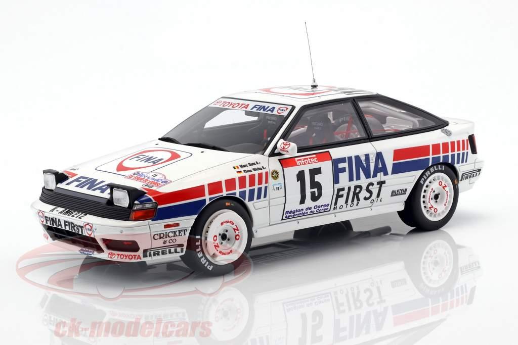 Toyota Celica GT-4 (ST165) #15 cuarto Tour de Corse 1991 Duez, Wicha 1:18 OttOmobile