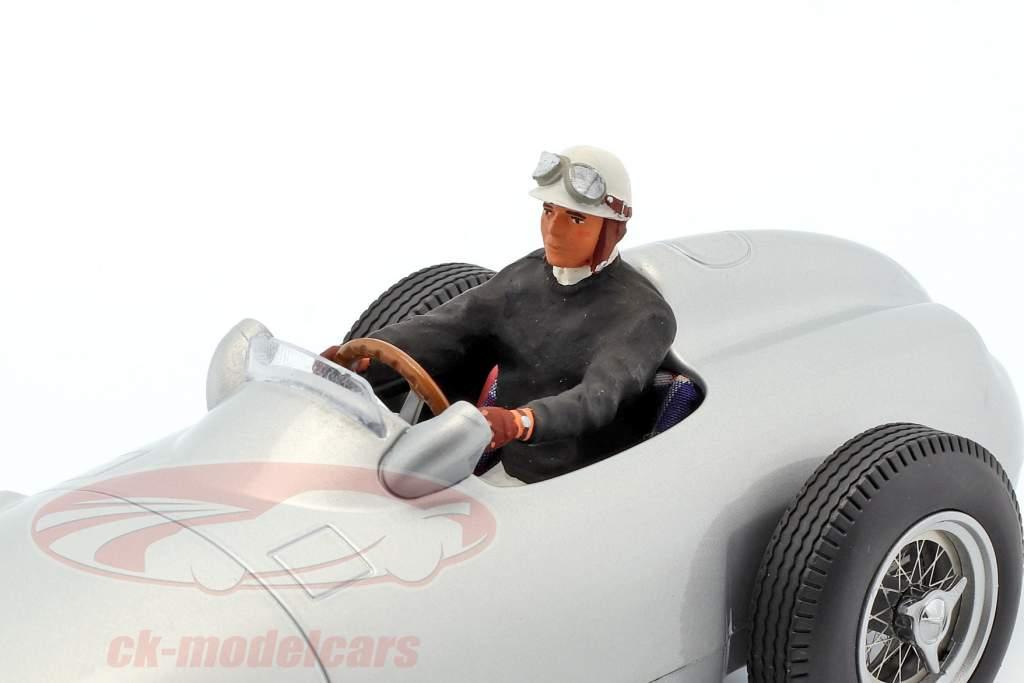 seated racer figure with black pullover 1:18 FigurenManufaktur