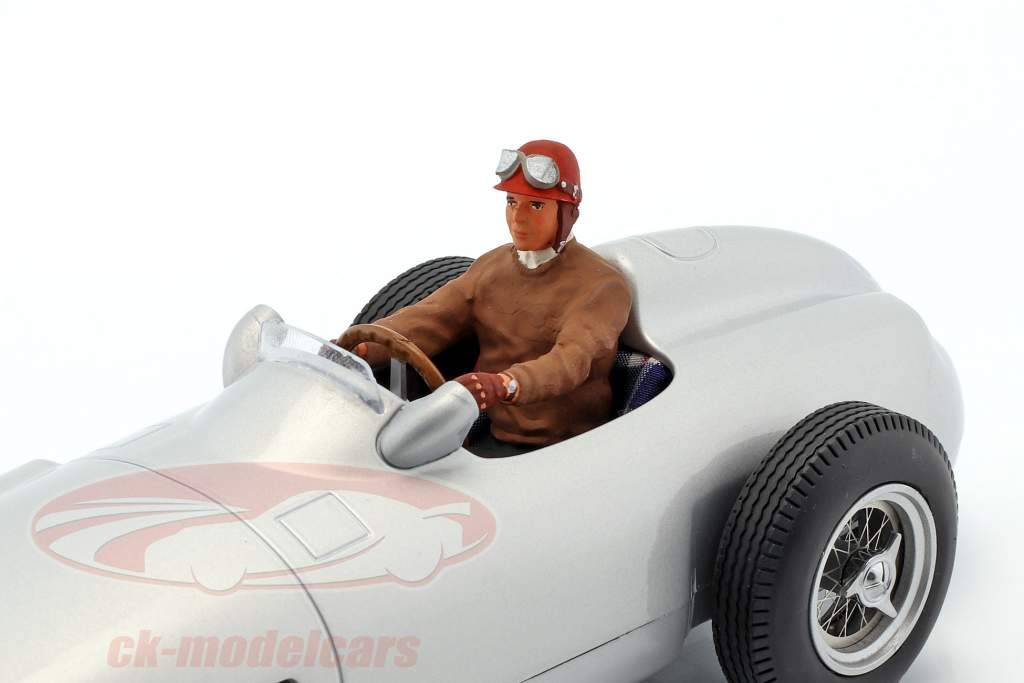 seated racer figure with brown pullover 1:18 FigurenManufaktur