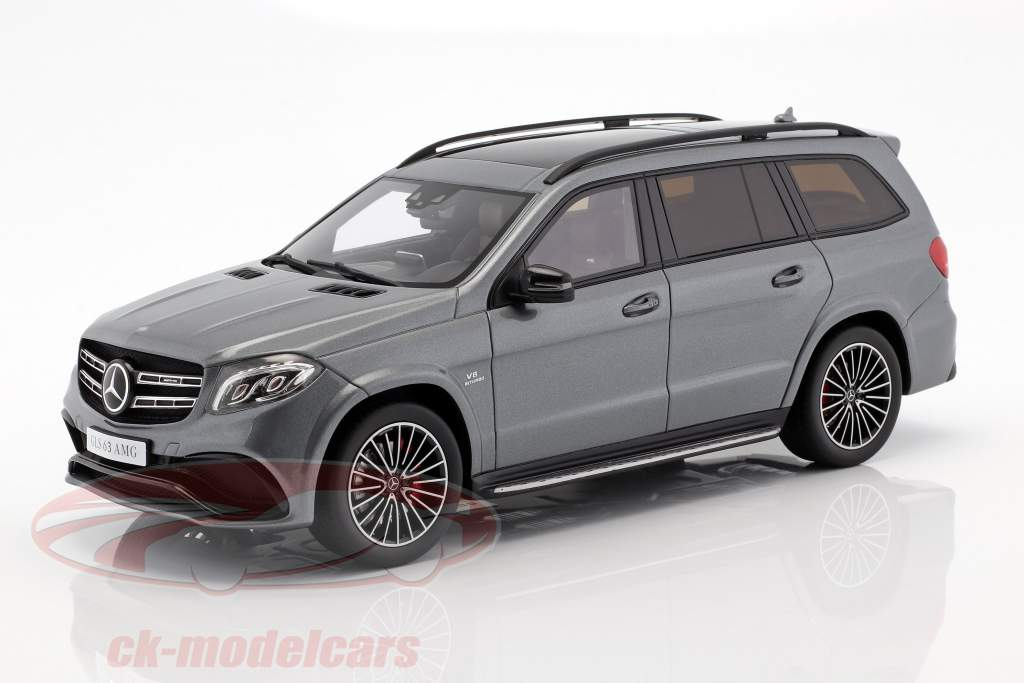 Mercedes-Benz AMG GLS 63 año de construcción 2016 selenite gris 1:18 GT-Spirit