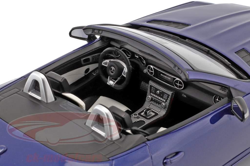 Mercedes-Benz AMG SLC 43 (R172) Opførselsår 2016 strålende blå 1:18 GT-Spirit