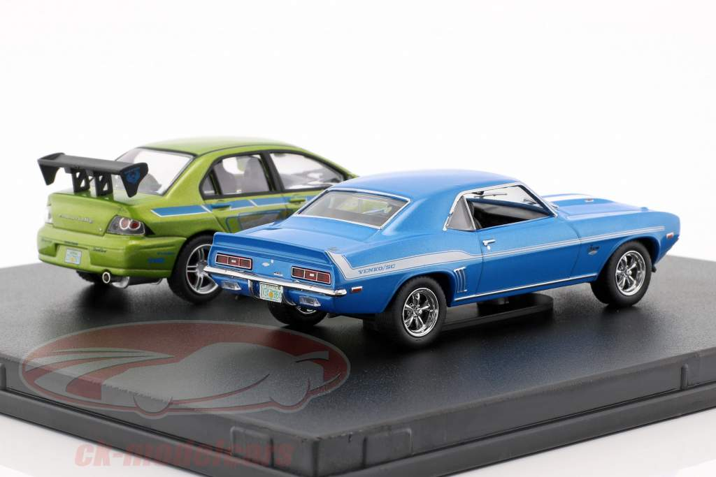 Fast and Furious 2-Car Set Chevrolet Camaro und Mitsubishi Lancer 1:43 Greenlight