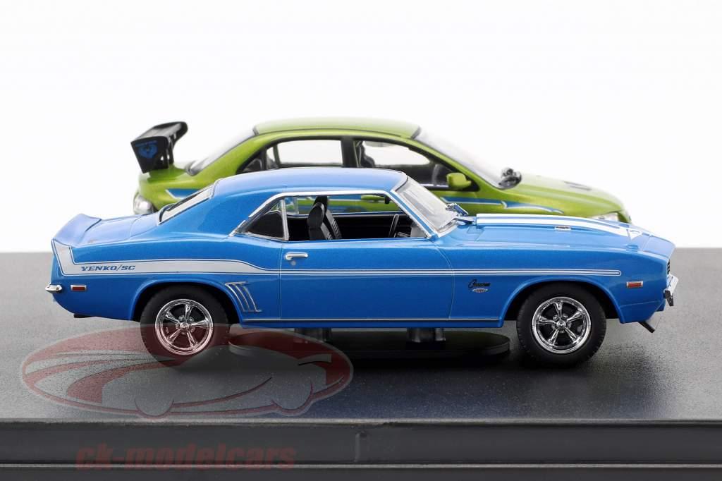 Fast and Furious 2-Car conjunto Chevrolet Camaro e Mitsubishi Lancer 1:43 Greenlight