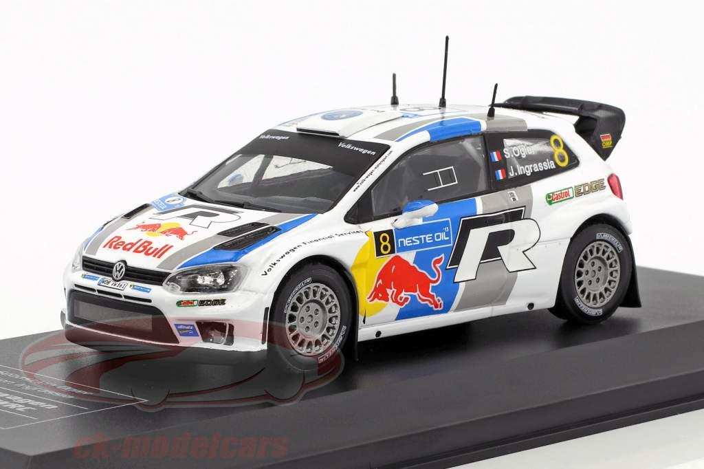 Volkswagen VW Polo R WRC #8 gagnant Rallye Finlande 2013 Ogier, Ingrassia 1:43 Direkt Collections