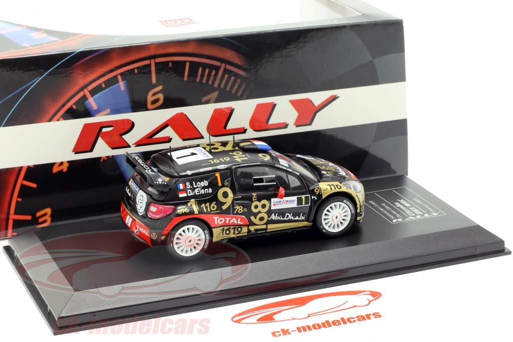 Citroen DS3 WRC #1 Rallye Frankrig Alsace 2013 Loeb, Elena 1:43 Direkt Collections