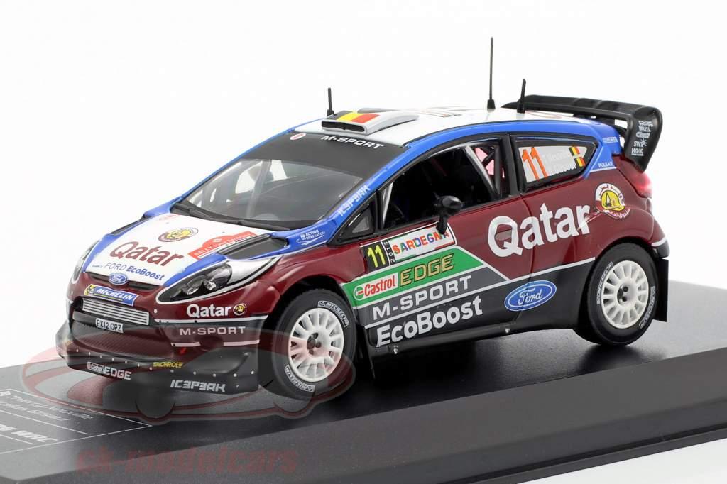Ford Fiesta RS WRC #11 2nd Rallye Italien Sardinien 2013 Neuville, Gilsoul 1:43 Direkt Collections