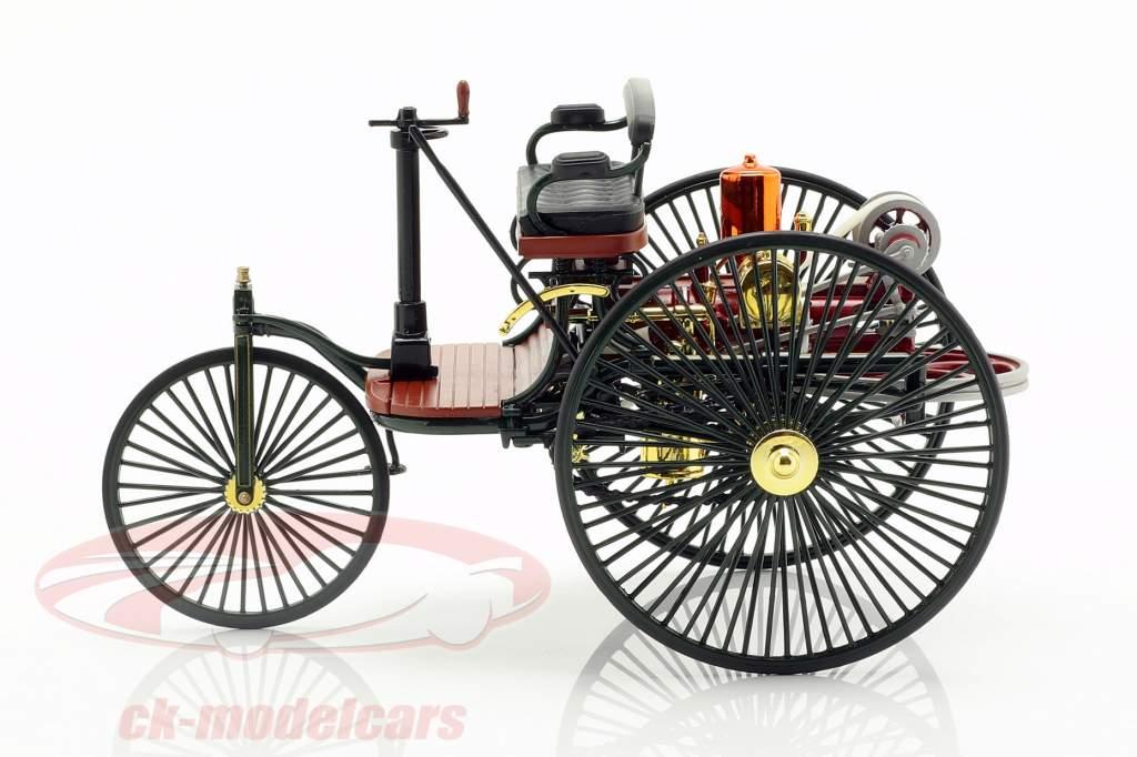 Mercedes-Benz Patent Motorwagen construit en 1886 01h18 vert Norev