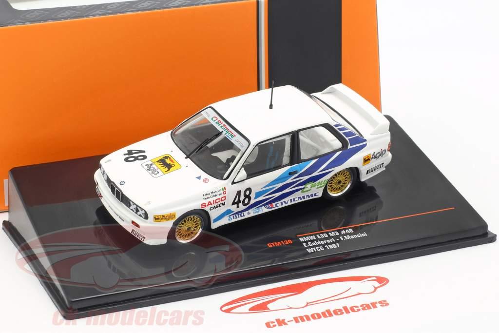 BMW M3 E30 #48 WTCC 1987 CiBiEmme Calderari, Mancini 1:43 Ixo