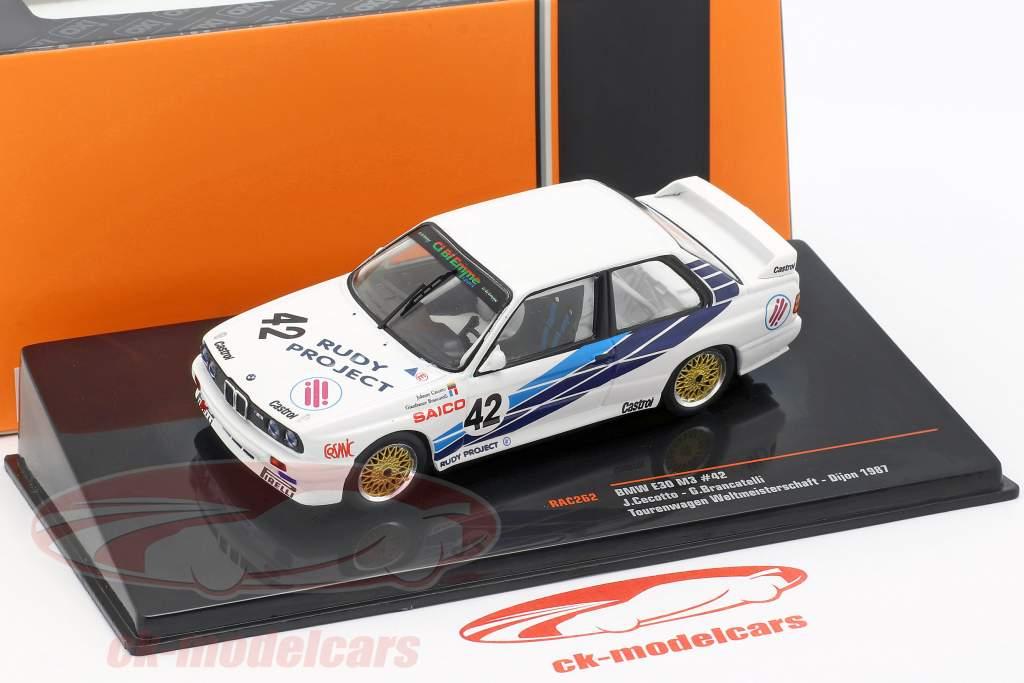 BMW M30 E30 #42 voiture de tourisme Coupe du monde Dijon 1987 CiBiEmme Cecotto, Brancetelli 1:43 Ixo