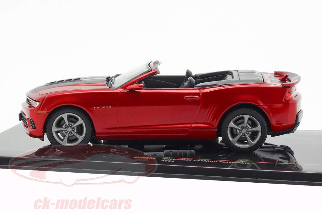 Chevrolet Camaro Convertible Construction year 2014 dark red metallic 1:43 Ixo