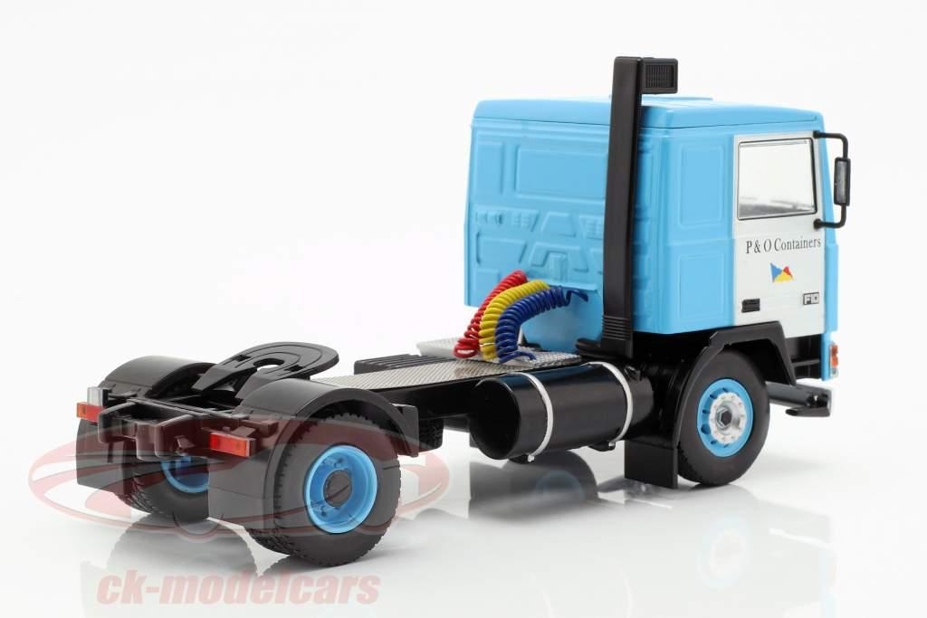 Volvo F10 camion avec P&O camion conteneur année de construction 1983 bleu 1:43 Ixo