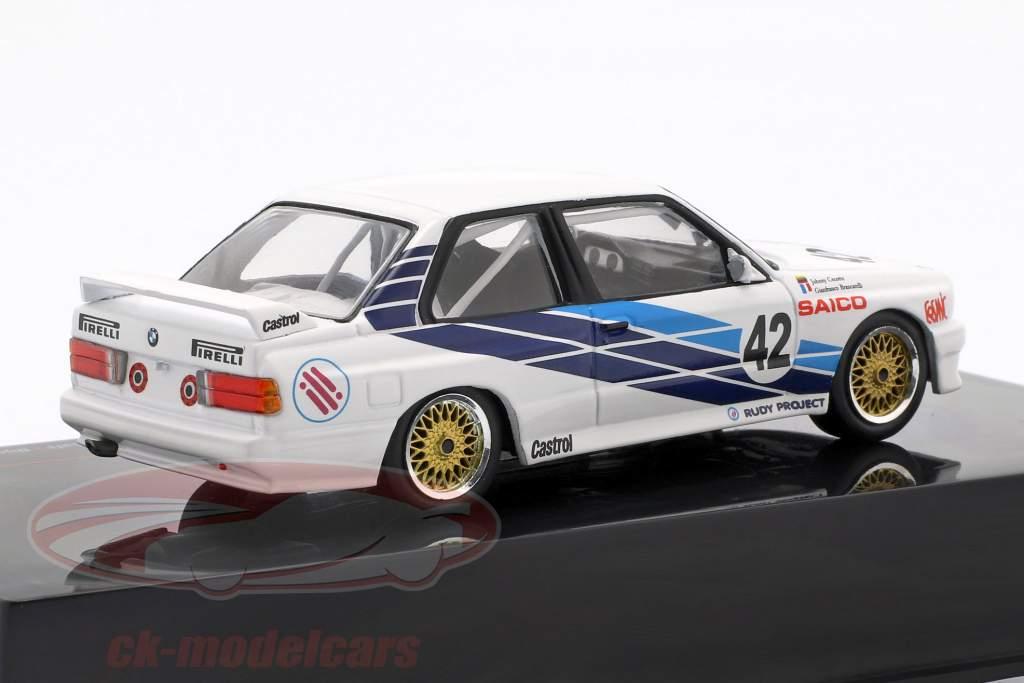 BMW M30 E30 #42 macchina da turismo coppa del mondo Dijon 1987 CiBiEmme Cecotto, Brancetelli 1:43 Ixo