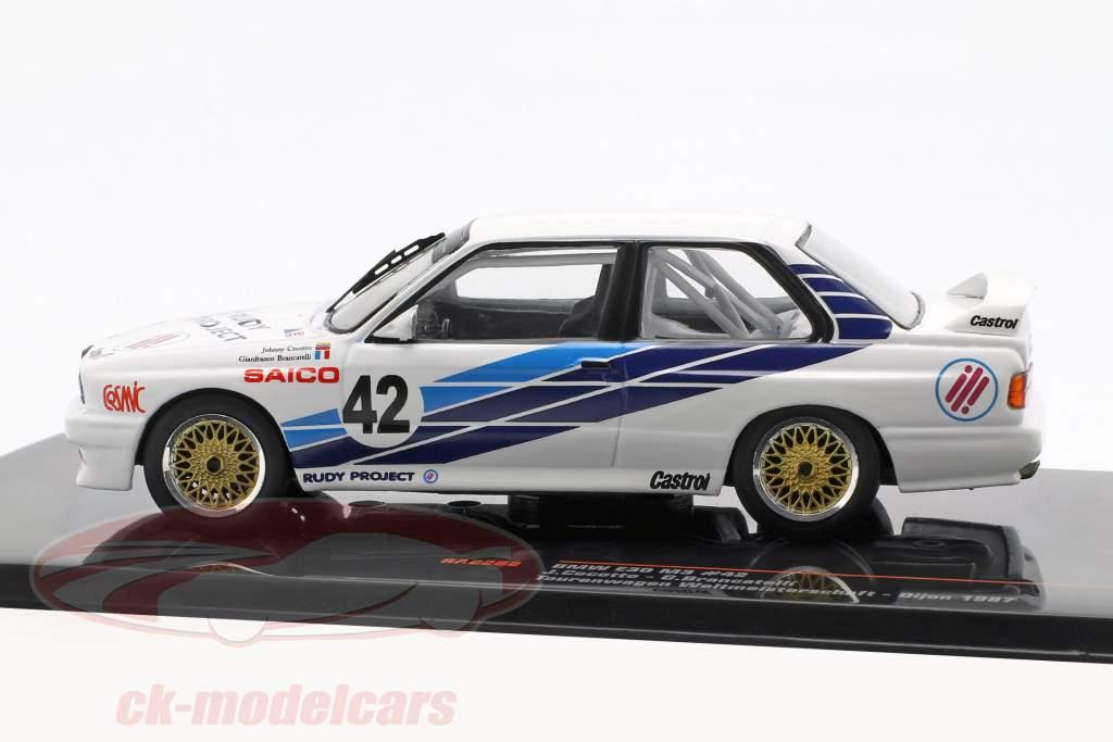 BMW M30 E30 #42 coches de turismo copa del mundo Dijon 1987 CiBiEmme Cecotto, Brancetelli 1:43 Ixo