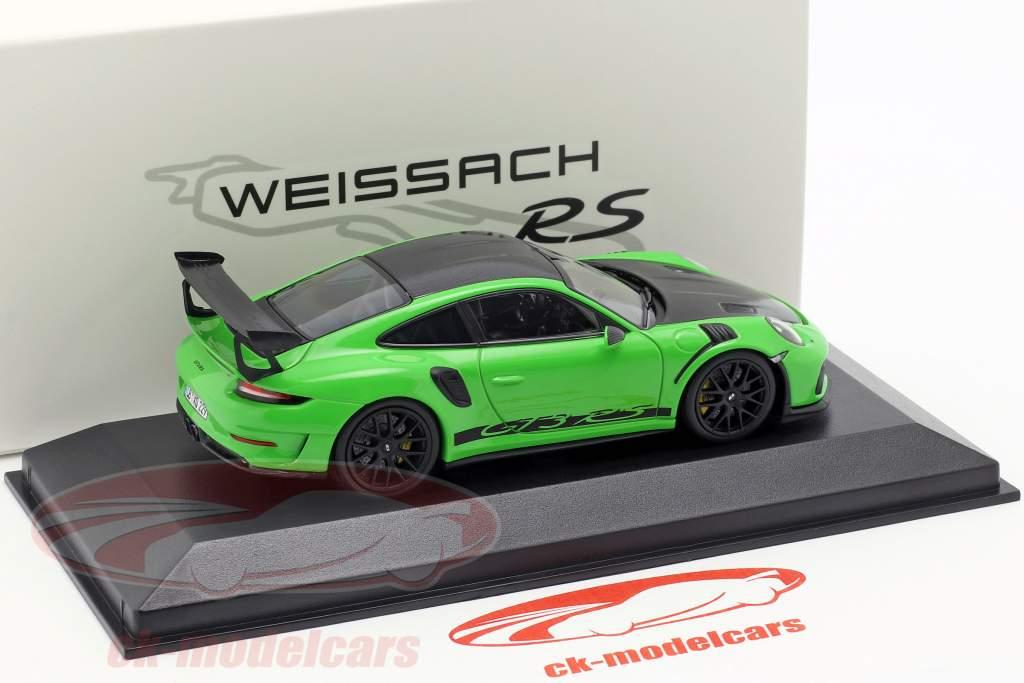 Porsche 911 (991) GT3 RS Weissach Package 2018 lizardgrün 1:43 Minichamps