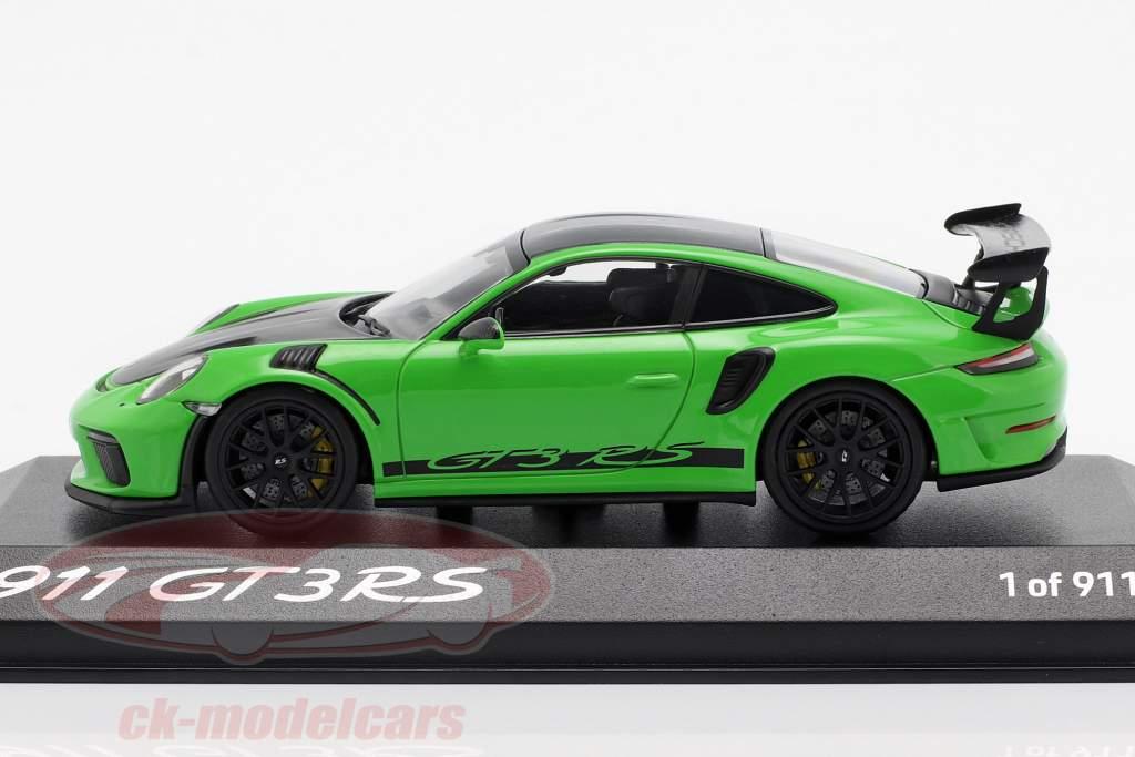 Porsche 911 (991) GT3 RS Weissach verpakking 2018 hagedis groen 1:43 Minichamps