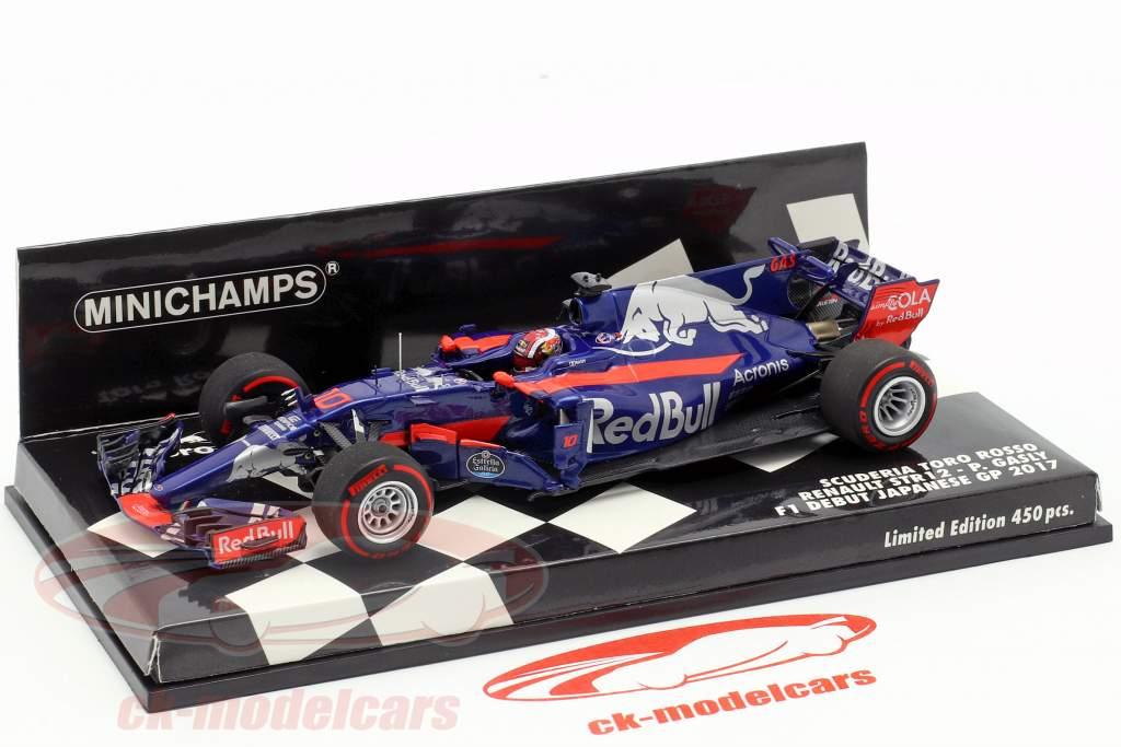 Pierre Gasly Toro Rosso STR12 #10 F1 debut japonés GP 2017 1:43 Minichamps