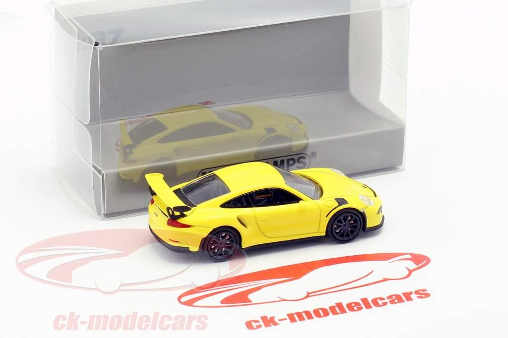 Porsche 911 GT3 RS année de construction 2015 jaune 1:87 Minichamps