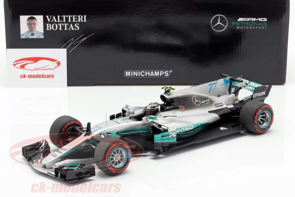 Valtteri Bottas Mercedes-AMG F1 W08 #77 2nd mexicanske GP F1 2017 1:18 Minichamps