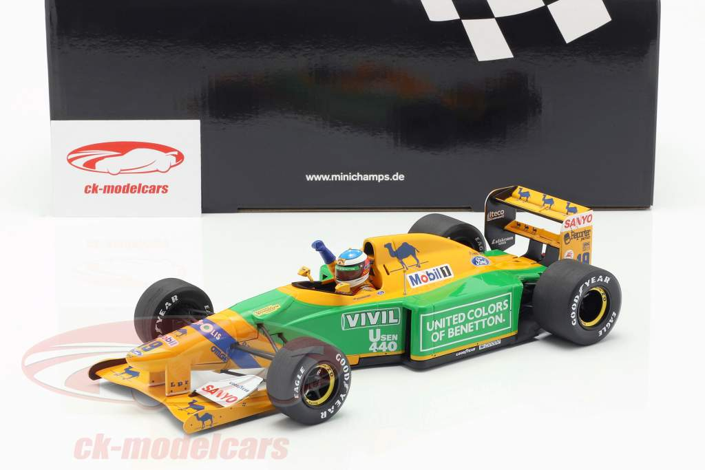 M. Schumacher Benetton B192 #19 3rd German GP formula 1 1992 1:18 Minichamps
