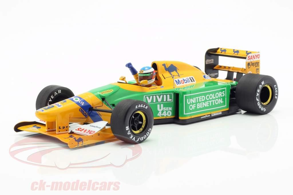 M. Schumacher Benetton B192 #19 3ª alemão GP fórmula 1 1992 1:18 Minichamps