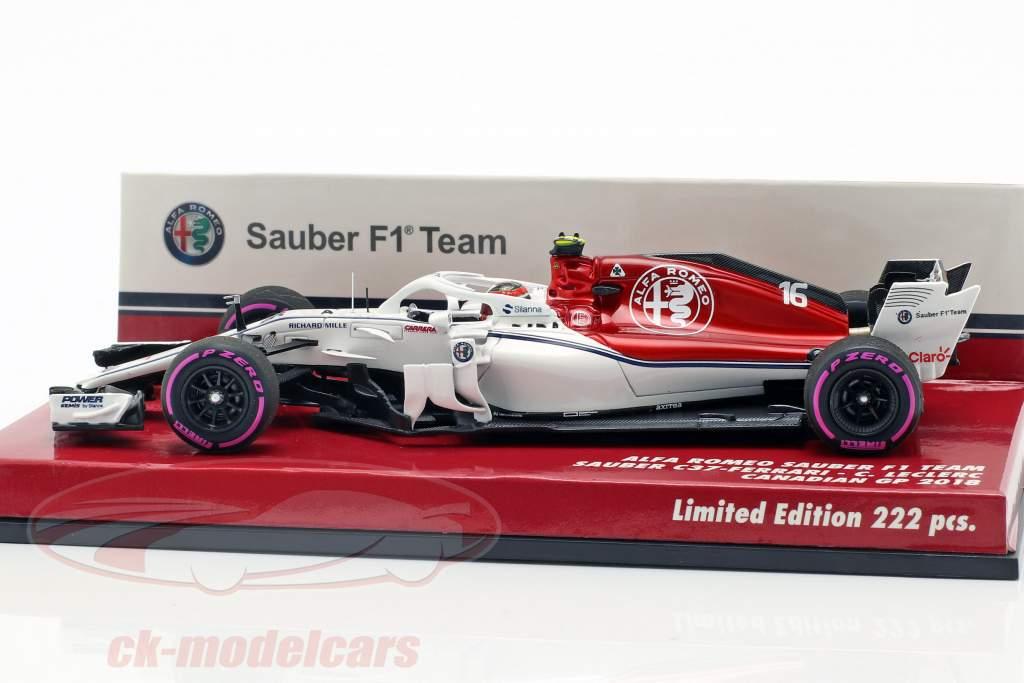 Charles Leclerc Sauber C37 #16 canadien GP formule 1 2018 1:43 Minichamps