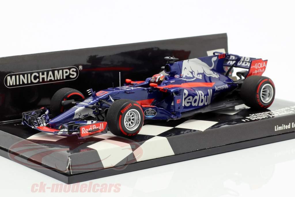 Pierre Gasly Toro Rosso STR12 #10 F1 debuut Japans GP 2017 1:43 Minichamps