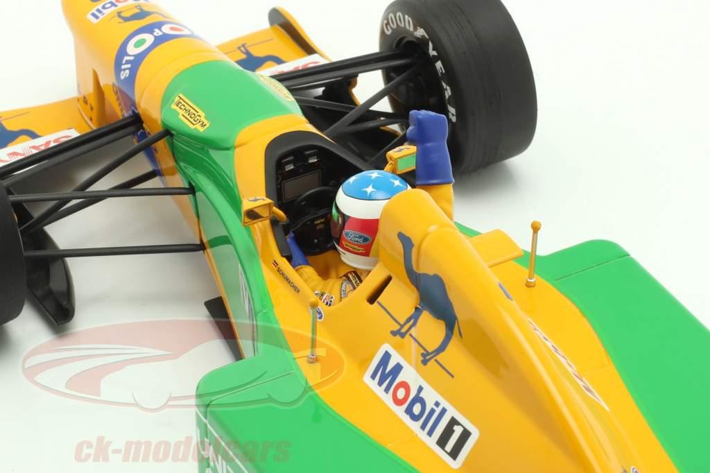 M. Schumacher Benetton B192 #19 3rd Deutschland GP Formel 1 1992 1:18 Minichamps