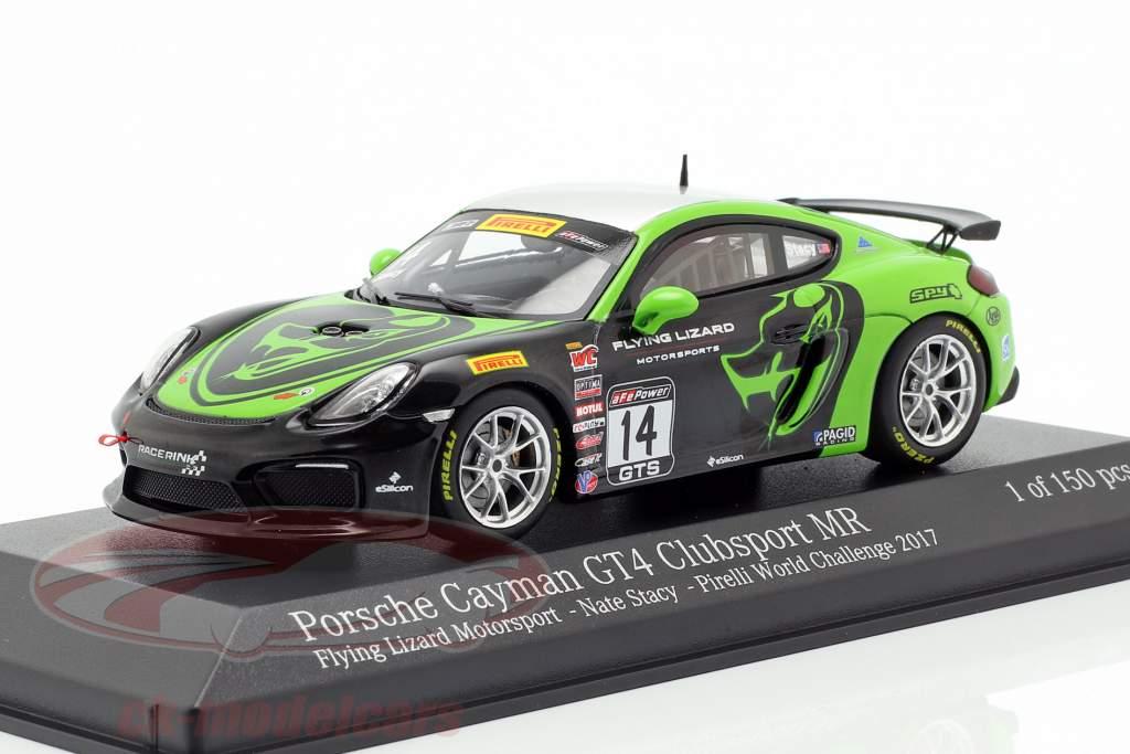 Porsche Cayman GT4 Clubsport MR #14 Pirelli World Challenge 2017 Stacy 1:43 Minichamps