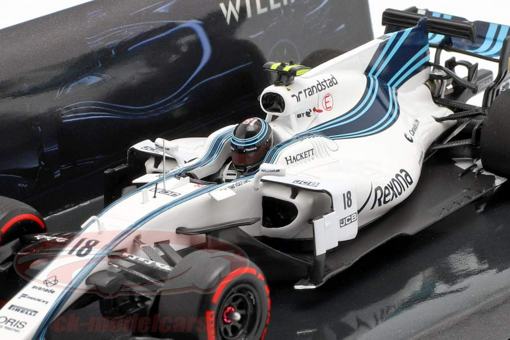 Lance Stroll Williams FW40 #18 Abu Dhabi GP formule 1 2017 1:43 Minichamps