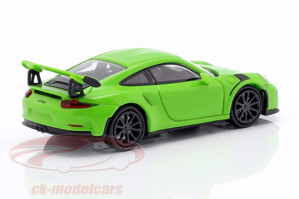 Porsche 911 GT3 RS year 2015 green 1:87 Minichamps