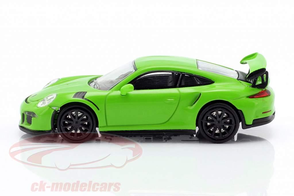 Porsche 911 GT3 RS Opførselsår 2015 grøn 1:87 Minichamps
