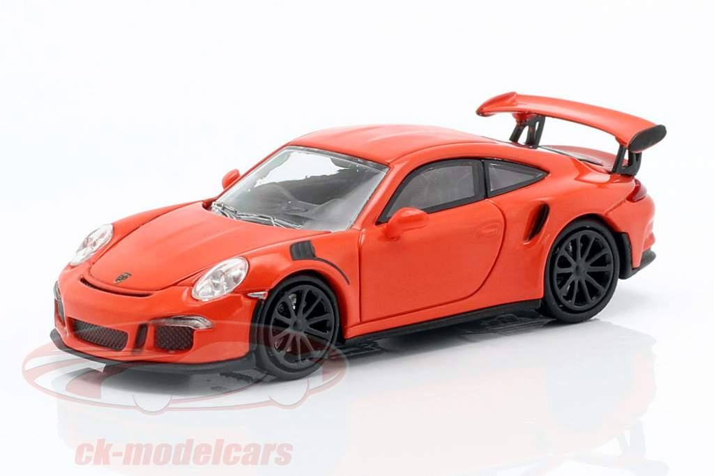 Porsche 911 GT3 RS Bouwjaar 2015 lava oranje 1:87 Minichamps