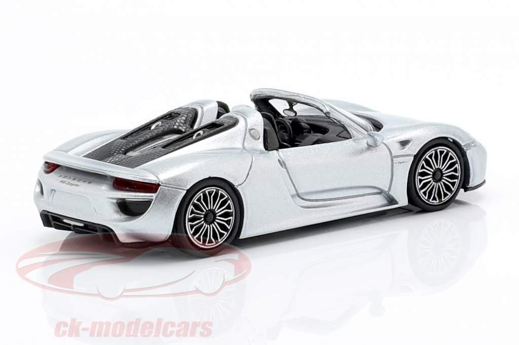 Porsche 918 Spyder année de construction 2015 argent 1:87 Minichamps